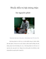 Tài liệu Thuốc điều trị hội chứng thận hư nguyên phát pdf