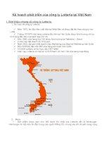 Kế hoạch phát triển của công ty Lotteria tại Việt Nam