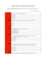Tài liệu 86 câu hỏi trắc nghiệm đại học môn Hóa ppt