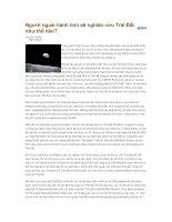 Tài liệu Người ngoài hành tinh sẽ nghiên cứu Trái Đất như thế nào pdf