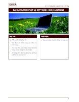 Tài liệu Bài 4: Phương pháp và quy trình học E-Learning docx
