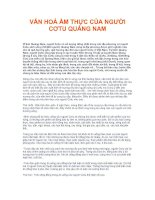 Tài liệu VĂN HOÁ ẨM THỰC CỦA NGƯỜI CƠTU QUẢNG NAM doc