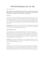 Tài liệu 4 lỗi khi đi phỏng vấn xin việc pdf