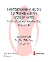 Tài liệu PHÂN TÍCH TÌNH HÌNH VÀ NHU CẦU CỦA TRẺ NHIỄM VÀ BỊ ẢNH HƯỞNG BỞI HIV/AIDS ppt