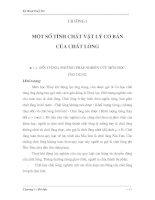 Tài liệu Một số tính chất vật lý cơ bản của chất lỏng pdf