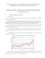 Tài liệu: Biến đổi khí hậu - Thực trạng, thách thức và giải pháp