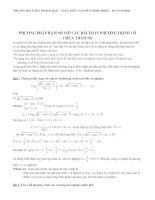 Tài liệu Phương pháp hàm số với bài toán phương trình chứa tham số