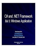 Tài liệu Bài 5: Windows Application docx