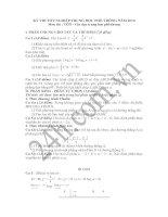 Tài liệu Đề thi và đáp án môn Toán tốt nghiệp THPT năm 2010 pptx
