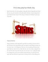 Tài liệu 10 kỹ năng giúp bạn thành công pdf