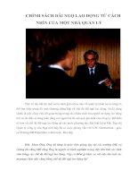 Tài liệu CHÍNH SÁCH ĐÃI NGỘ LAO ĐỘNG TỪ CÁCH NHÌN CỦA MỘT NHÀ QUẢN LÝ pdf