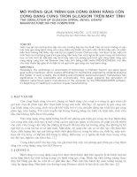 Tài liệu MÔ PHỎNG QUÁ TRÌNH GIA CÔNG BÁNH RĂNG CÔN CONG DẠNG CUNG TRÒN GLEASON TRÊN MÁY TÍNH doc