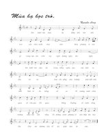 Tài liệu Bài hát mùa hạ học trò - Nguyễn Long (lời bài hát có nốt) pptx