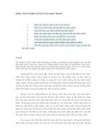 CHƯƠNG 6: PHÂN TÍCH NGÀNH VÀ ĐỐI THỦ CẠNH TRANH