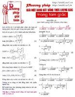 Tài liệu Phương pháp giải một số dạng bất đẳng thức lượng giác trong tam giác docx