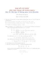 Tài liệu Bài tập về không gian vecto Euclide doc