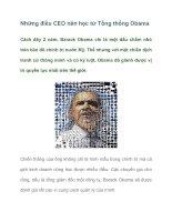 Tài liệu Những điều CEO nên học từ Tổng thống Obama pptx