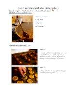 Tài liệu Gợi ý cách tạo hình cho bánh cookies pptx