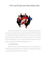 Tài liệu 10 bí quyết giúp bán hàng thành công pdf