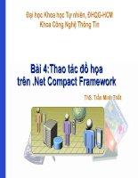 Tài liệu Bài 4: Thao tác đồ họa trên .Net Compact Framework pptx