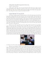 Tài liệu Phòng bệnh viêm phổi trong mùa hè cho trẻ em ppt