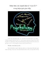 """Tài liệu Khai thác sức mạnh tâm lý """"con số 3"""" trong hiệu quả giao tiếp pptx"""