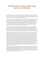 Tài liệu Văn Miếu Quốc Tử Giám - Biểu tượng của văn hóa Việt Nam docx