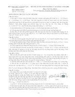 Tài liệu Đề thi ĐH môn Vật lý khối A 2006 ppt