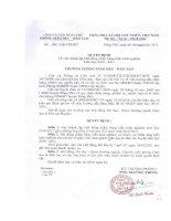 Gián án Số: 24/QĐ- PGDĐT ngày 11/02/2011 Quyết định v/v thành lập Hội đồng chấm SKKN năm học 2010 - 2011