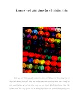 Tài liệu Lanoz với câu chuyện về nhãn hiệu pdf