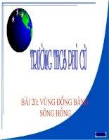 Gián án Bài 20. Vùng Đồng bằng sông Hồng