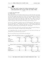 Tài liệu Xác định khối lượng và thành phần liên quan đến các chỉ số thiết kế công trình pdf