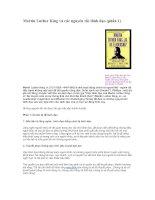 Tài liệu Martin Luther King và các nguyên tắc lãnh đạo doc