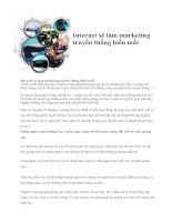 Tài liệu Internet sẽ làm marketing truyền thống biến mất ppt