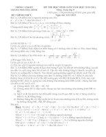 Tài liệu ĐT HSG TP Hòa Bình 10-11