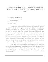 Tài liệu CHỈ ĐẠO NỘI DUNG VÀ PHƯƠNG PHÁP DẠY HỌC ĐỂ RÈN KĨ NĂNG SỬ DỤNG DẤU CÂU CHO HỌC SINH TIỂU HỌC ppt