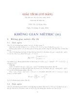 Tài liệu Tài liệu ôn thi cao học năm 2005 - Môn: Giải tích cơ bản ppt