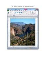 Tài liệu Thêm hiệu ứng nghệ thuật vào ảnh trong Office 2010 doc