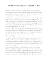Tài liệu Bí mật thành công của Apple pdf