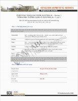 Tài liệu EVERYDAY ENGLISH FROM AUSTRALIA – Series 1.20 docx