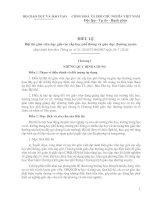 Bài soạn Điều lệ Hội thi giáo viên dạy giỏi các cấp