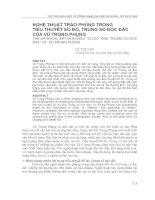 Tài liệu NGHỆ THUẬT TRÀO PHÚNG TRONG TIỂU THUYẾT SỐ ĐỎ docx