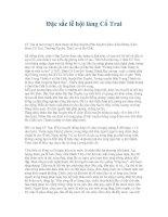 Tài liệu Đặc sắc lễ hội làng Cổ Trai docx