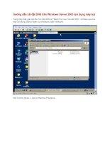Tài liệu Hướng dẫn cài đặt DNS trên Windows Server 2003 (sử dụng máy ảo) Trong máy thật, pptx
