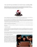 Tài liệu Tám cách kết hợp các Webinar với một kế hoạch marketing B2B pdf