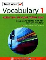 test your vocabulary 1 - kiểm tra từ vựng tiếng anh bằng những bài tập minh họa hình ảnh sinh động