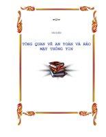 Tài liệu TỔNG QUAN VỀ AN TOÀN VÀ BẢO MẬT THÔNG TIN doc