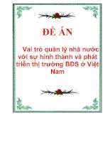 Tài liệu Vai trò quản lý nhà nước với sự hình thành và phát triển thị trường BĐS ở Việt Nam pdf
