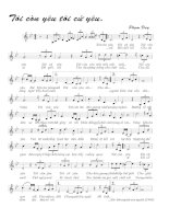Tài liệu Bài hát tôi còn yêu tôi cứ yêu - Phạm Duy (lời bài hát có nốt) ppt
