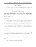 PHƯƠNG PHÁP NGHIÊN CỨU ĐỊA LÝ TỰ NHIÊN